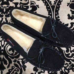 👠NEW💥ALPINE SWISS black slippers size 8